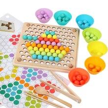 Candywood Legno Multi funzione Tallone Di Puzzle Gioco Per Bambini Clip di Giocattolo Educativo Montessori Perline Giocattoli Di Legno Per I Bambini Che Imparano