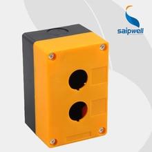 ABS Plastic Yellow Black 2 Hole Push Button Control Station Switch Box/Waterproof Button Box IP65 PBX02