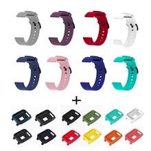 2in1 Silikon Sport Strap Für Xiaomi Huami Amazfit Bip Jugend Smart Uhr 20mm Ersatz Uhr Band Armband + Volle fall Abdeckung