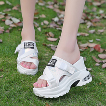 2019 Women Platform Slippers Spring Casual Sandals Slides Wedges Shoes Women Lady Summer Shoes Creeper High Shoes Woman Slippers vtota slippers women fashion open toes women summer shoes heel shoes women slides platform wedges shoes female slippers g63