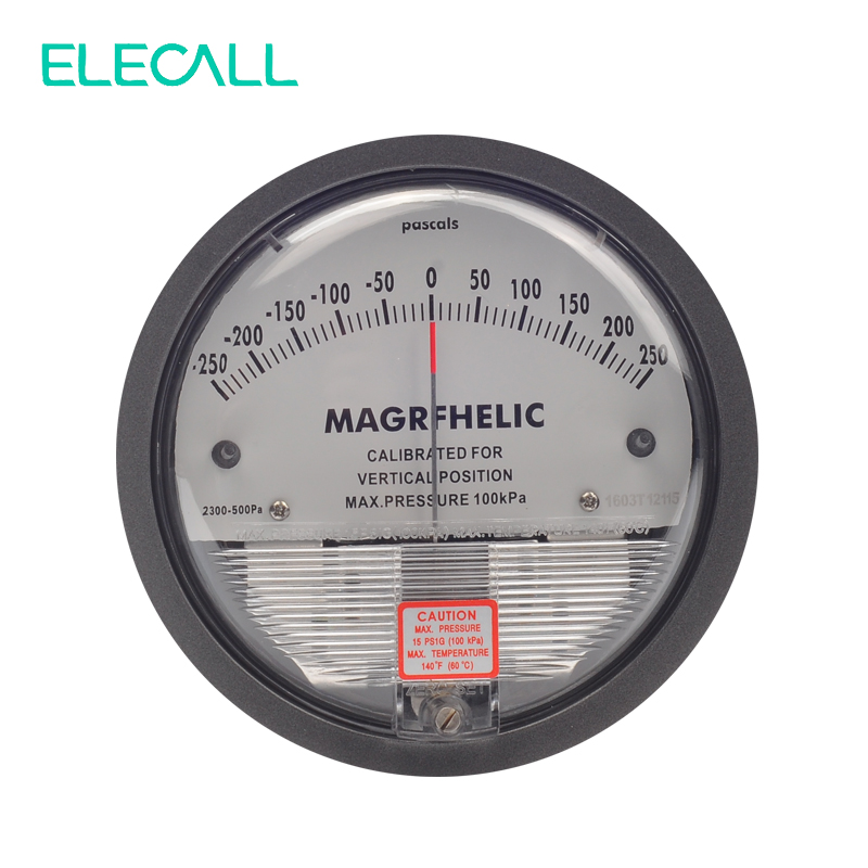 ELECALL New Arrial -250~250PA TE2000 Micro Differential Pressure Gauge High Precision 1/8