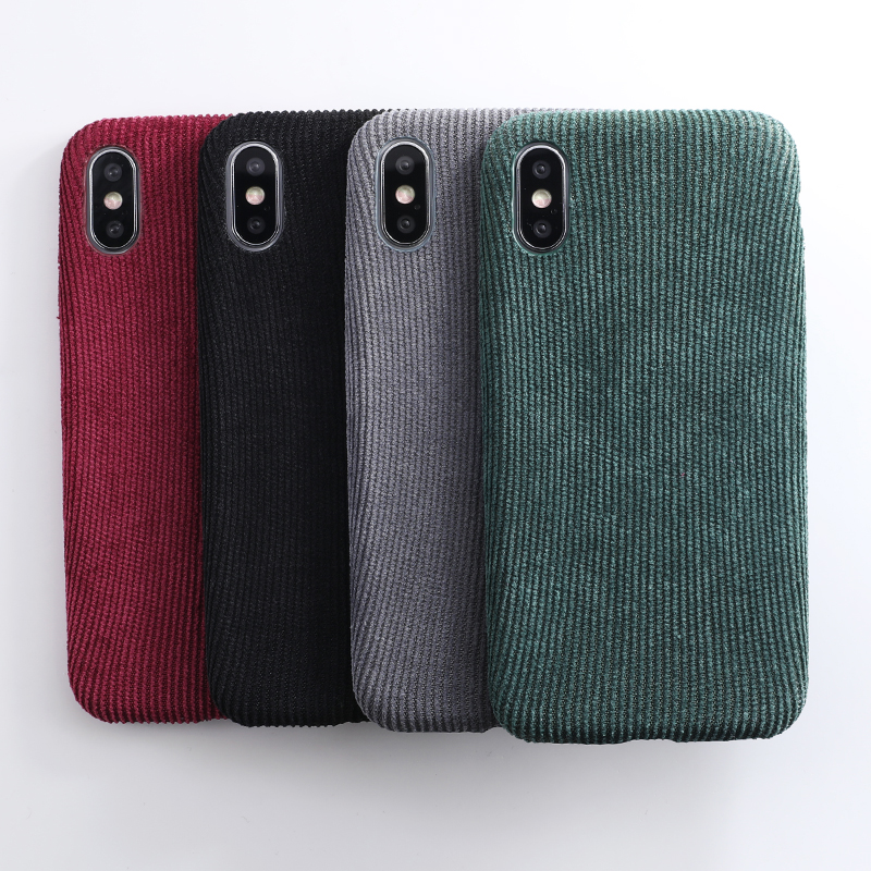 SoCouple Plush Fabrics Phone Case For iphone X 7 8 6 6S plus Case For iphone Xs max XR Cloth Texture Soft Back Cover Capa Fundas (3)