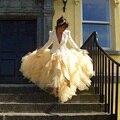 Especial e Único Em Camadas de Tule Saia Para As Mulheres Moda 2016 New Arrival Puffy Saia Para O Partido Rígida Tule vestidos de Festa Roupas Femininas