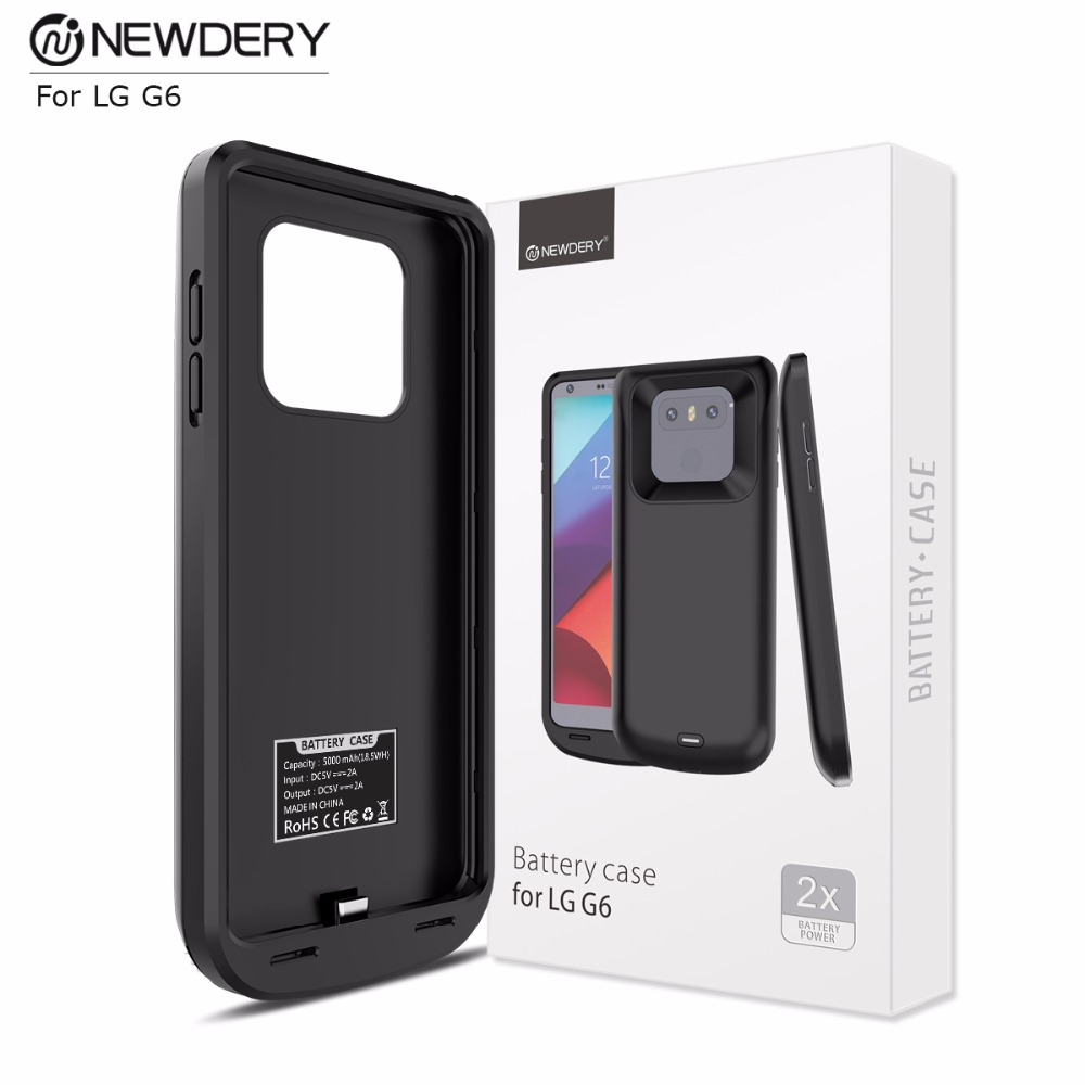 best authentic 11d3e ca263 US $34.99 |Fashionable Battery Case For LG G6 Popular 5000mah Power Bank  Case For LG New Charger Cover 5V/2A Charging Case-in Battery Charger Cases  ...