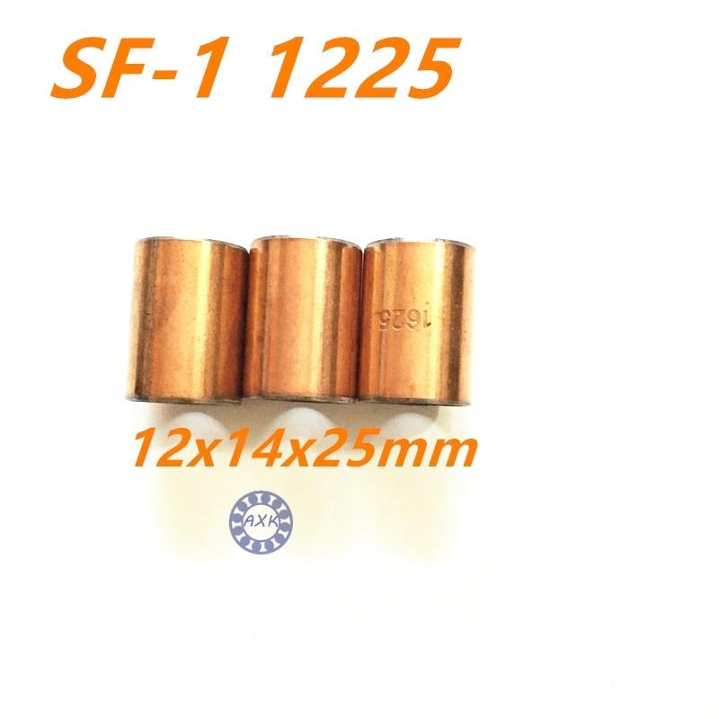 Free shipping 10Pcs SF1 SF-1 1225 10pcs1225 12*14*25 Self Lubricating Composite Bearing Bushing Sleeve 12x14x25mm 20pcs sf1 sf 1 0812 self lubricating composite bearing bushing sleeve 8 x 10 x 12mm free shipping high quality