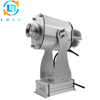 Waterproof Silver 20W LED Gobo Projector for Advertising Aluminum Alloy 1700lm Custom Company Logo Image Projector Light Outdoor