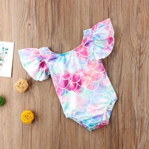 370b1dae01 Toddler Kids Baby Girl Child Mermaid One Piece Bikini Swimwear Swimsuit  Monokini Bathing Suit Beachwear
