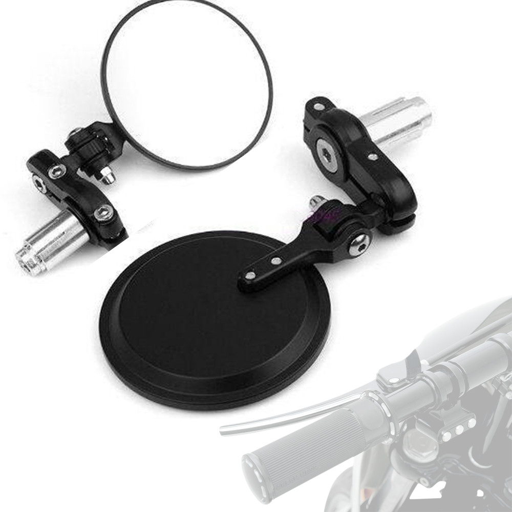 Motorcycle Universal Rearview Handle Bar Ends 7/8