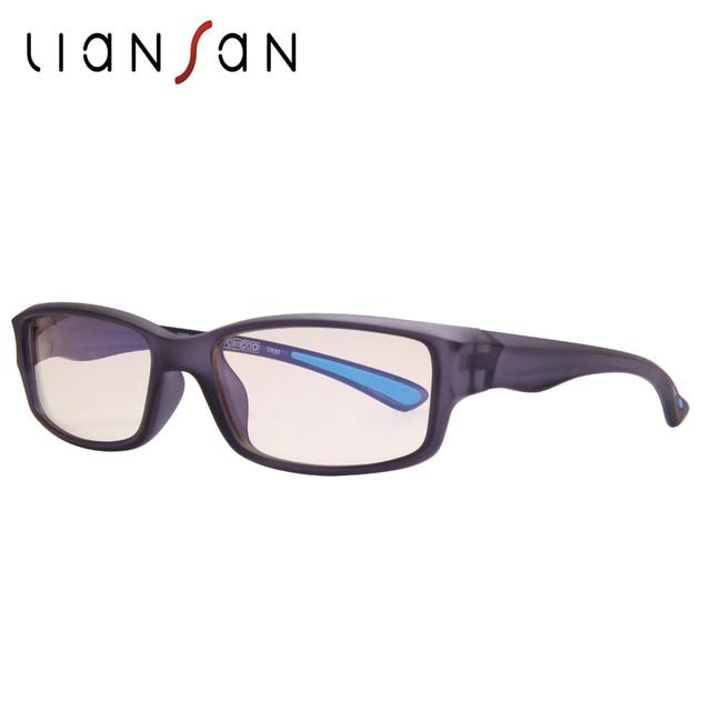 affc8990332 LianSan TR90 Anti Blue Ray Computer Reading Glasses Women Men Luxury Brand  Designer Sport Optical Glasses Lightweight LS8515GTRX