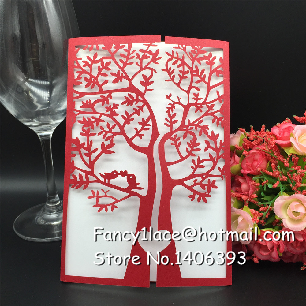 Creative 30pcs/lot Customized Invitations Valentine\'s Wedding Party ...