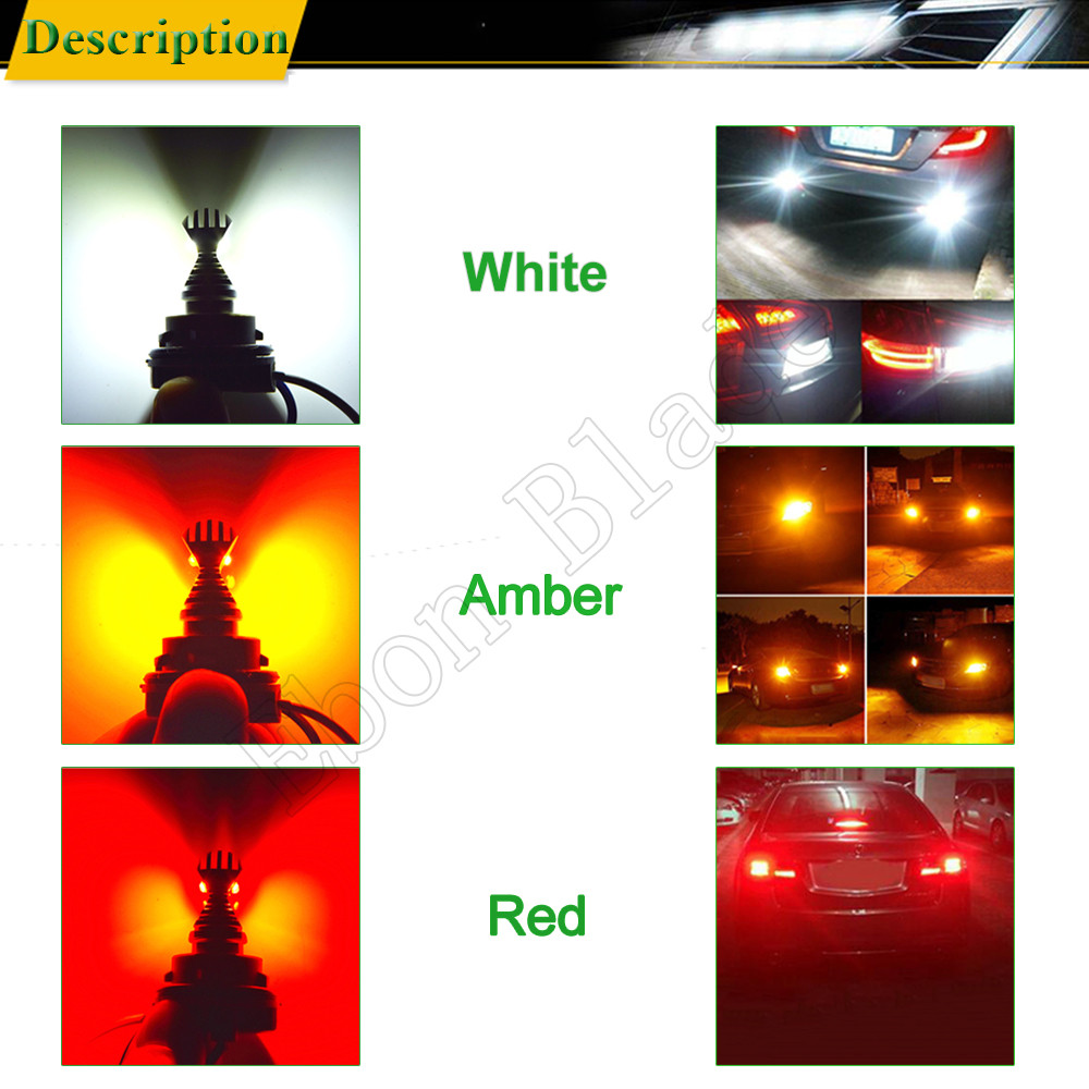 Image 5 - 2x LED Car Lights T20 7443 W21/5W 7440 W21W WY21W XBD 30W Automobiles Auto Light Brake Turn Signal DRL Bulb Lamp White Red Amber-in Signal Lamp from Automobiles & Motorcycles