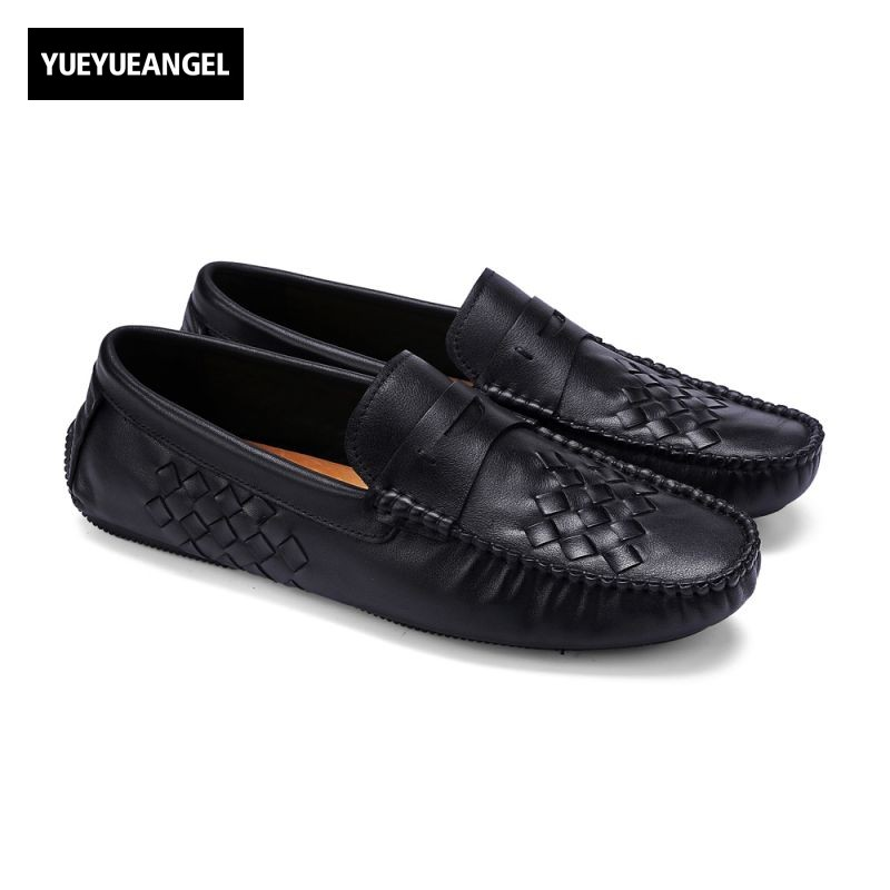 Autumn New Arrival Mens Slip On Round Toe Male Casual Shoes Genuine Leather Top Quality Footwear Chaussure Homme De Marque Black 2016 new autumn winter man casual shoes sport male leisure chaussure laced up basket shoes for adults black