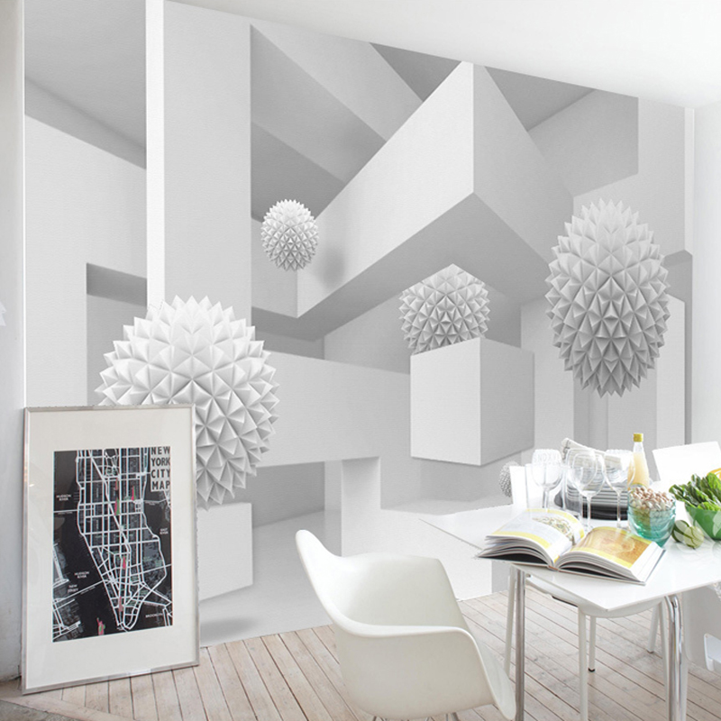 Spatial Extension Personality Wall Mural Wallpaper 3D Stereo Geometry Sphere Modern Abstract Art Fresco Office Study Home Decor
