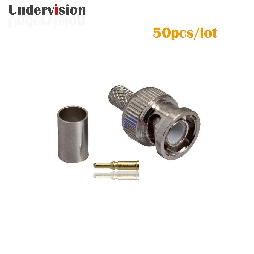 bilder für 3G HD/SDI Männlich Crimp bnc-stecker RG59, 50 Teile/los kostenloser Versand