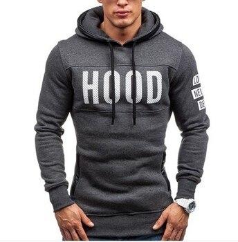 Grey Hood Logo Hoodie