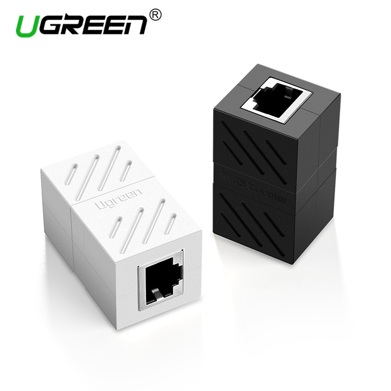 Ugreen RJ45 Connector Cat7/6/5e Ethernet Adapter 8P8C Network Extender Extension Cable for Ethernet Cable Female to Female bnc female to rj45 network testing cable black