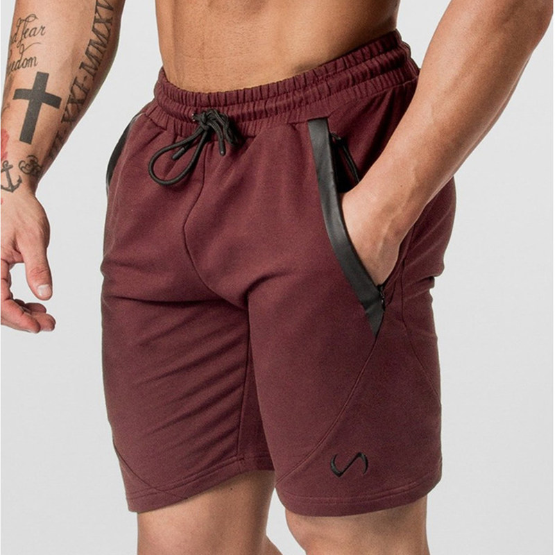 Mens Bodybuilding Skinny Cotton Shorts Man Gyms Fitness Workout Short Pants Summer Male Casual Fashion Jogger Beach Sweatpants
