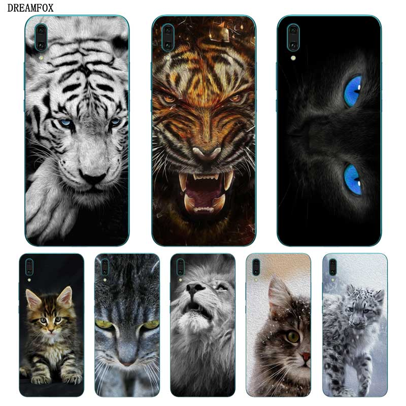 N285 <font><b>Cats</b></font> Cute Soft TPU Silicone Cover For <font><b>Huawei</b></font> Y5 Y6 <font><b>Y7</b></font> Y9 Prime Pro 2017 2018 <font><b>2019</b></font> <font><b>Case</b></font> image