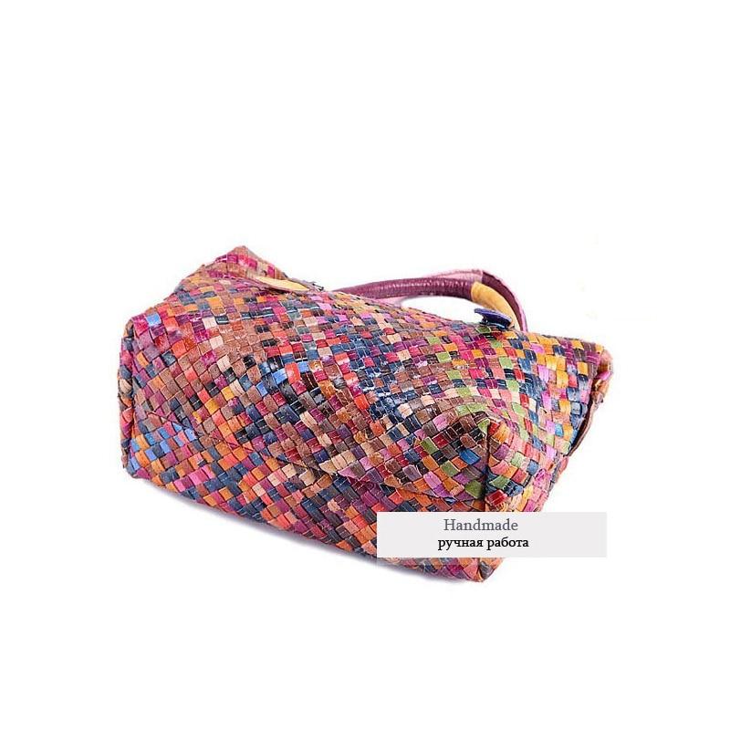 Hot Sale New 2017 Fashion Brand Cowhide GENUINE LEATHER Handbag Women Vintage Tote National Single Shoulder Bag W0077