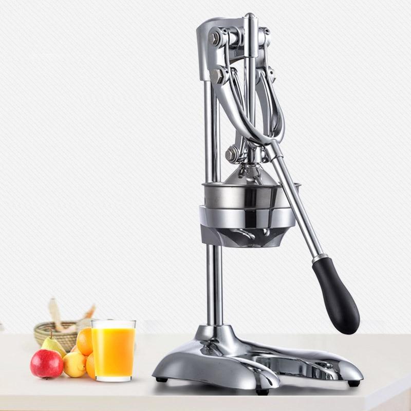 Нержавеющая Сталь Ручной пресс соковыжималка для цитрусовых лимон оранжевый гранат фрукты соковыжималки коммерческих и бытовой