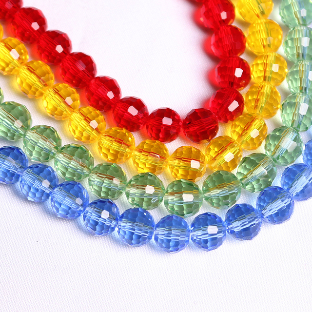 10 12mm Faceted Crystal Round Ball Beads Glass Loose Spacer Bead DIY Making  Jewelry Accessories 75fbf81271ea