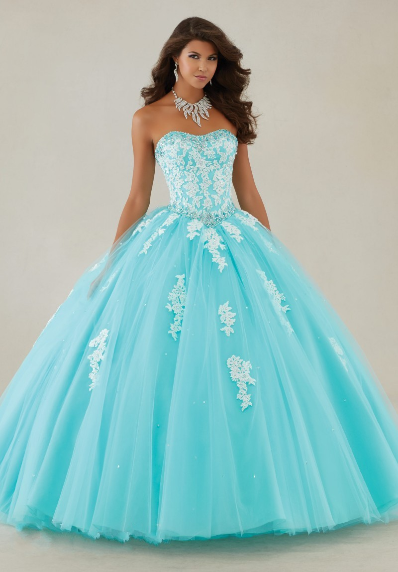 Online Get Cheap Blue and White Quinceanera Dresses -Aliexpress ...