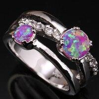 انخفاض السعر الجمال الوردي النار العقيق و المجوهرات 925 فضة مختوم الأزياء الجواهر المرأة الأبيض لنا رقم حجم SF1175