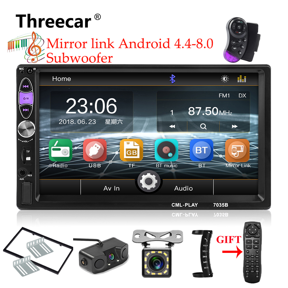 Mirror link Phone Android 8.1 subwoofer Bluetooth USB Audio Stereo 2din Car Multimedia Player Autoradio MP5 Double Din Car Radio