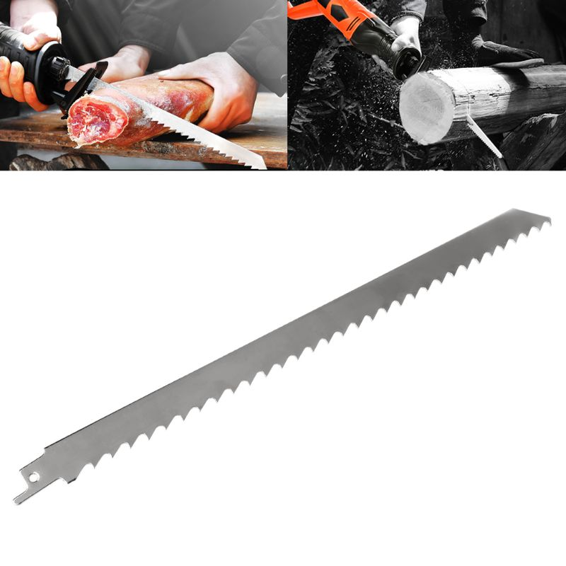 Stainless Steel 300mm Reciprocating Power Saw Blade With Thick Tooth Effective For Cutting Wood Woodworking Tool Accessories