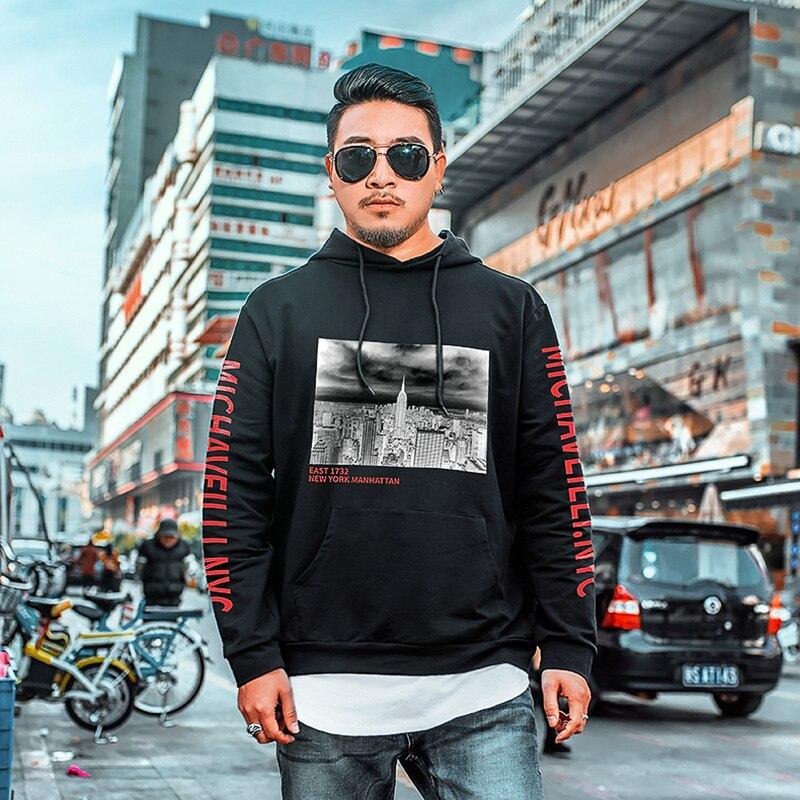 Большие размеры большой 8XL весна пуловер уличная мода Толстовки Нью-Йорк мужская одежда с длинными рукавами с принтом негабаритных кофты