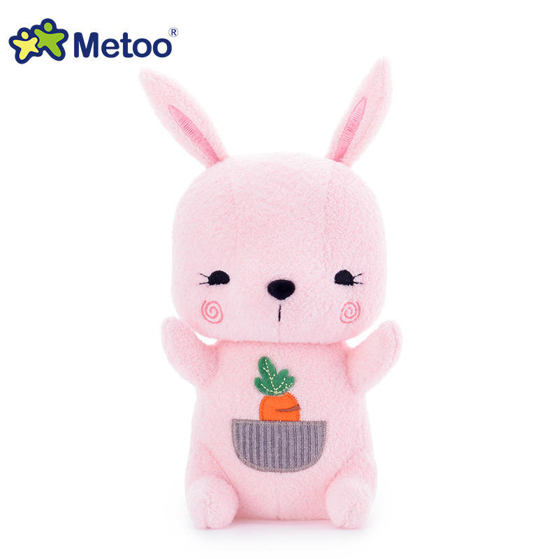 7 Inch Kawaii Plush Stuffed Animal Cartoon Kids Toys for Girls Children Baby Birthday Christmas Gift Rabbit Metoo Doll cute bulbasaur plush toys baby kawaii genius soft stuffed animals doll for kids hot anime character toys children birthday gift