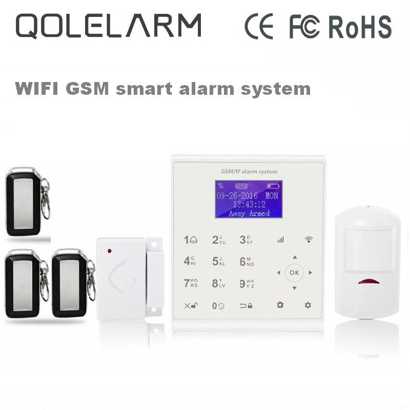 433mhz Wireless wifi gsm alarm system for smart home security anti theft Android/IOS APP control Cloud service +PIR detector smart pir mp alert a9 anti theft monitor detector gsm alarm system for home