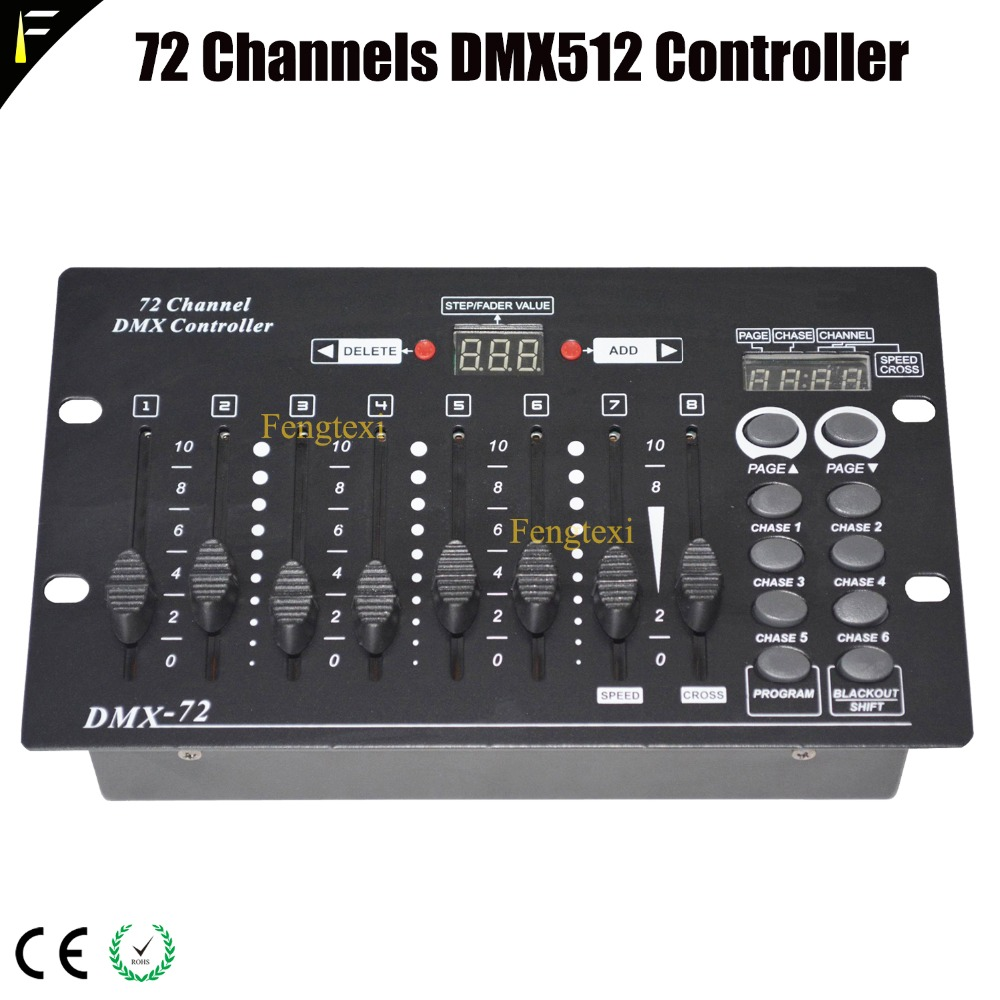 Newest Digital Display 72 Channels DMX512 Mini Simple Console Party Bar KTV 72CHS Controller Stage Light Control Board Device Newest Digital Display 72 Channels DMX512 Mini Simple Console Party Bar KTV 72CHS Controller Stage Light Control Board Device