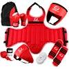 Sanda Full Set Protective Guards MMA Taekwondo Sport Shin Protector Arm Protector Helmet Body Crotch Protector