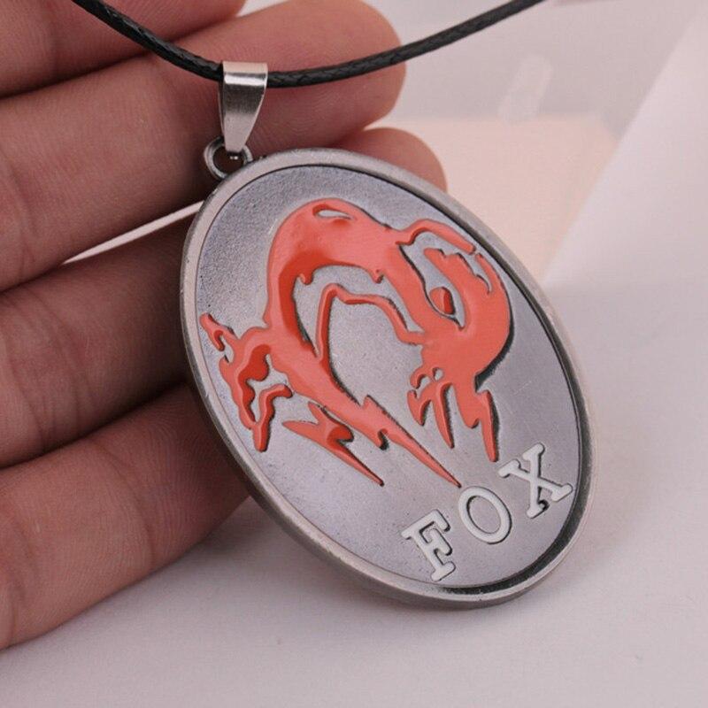 Metal Gear Solid V The Phantom Pain FOX Symbol Mark Necklace Pendants for Men Male Women Female Hot Fans Collar