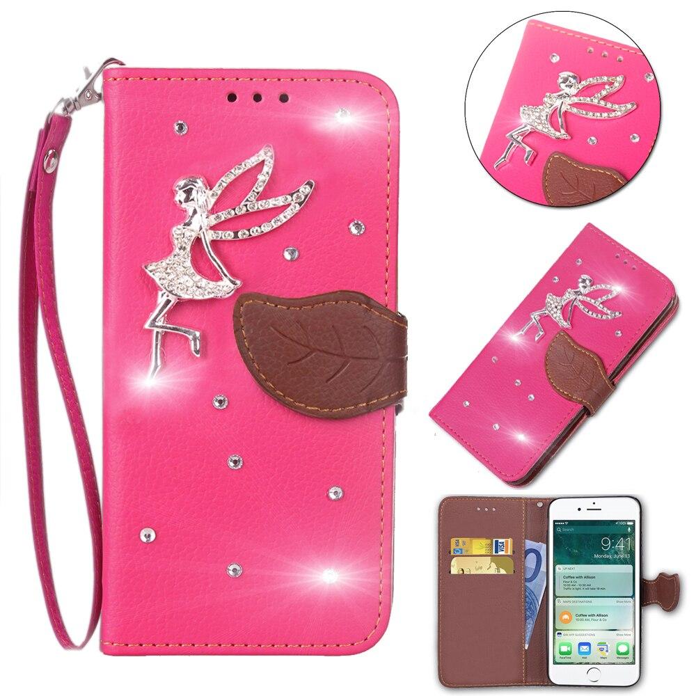 Luxus Blätter Brieftasche Ledertasche Für Leagoo Kiicaa Power fall 5,0