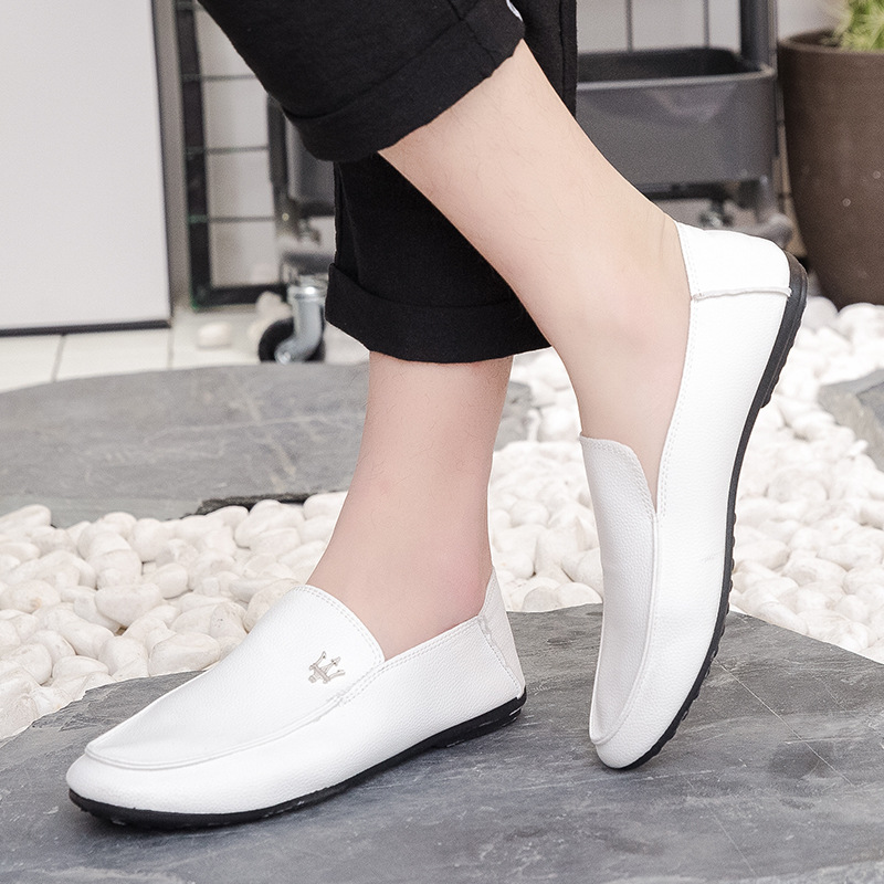 Men Loafers Soft Moccasins Peas shoes flat lazy mens half drag casual shoes  Driving Shoes zapatillas de moda 2019 hombre