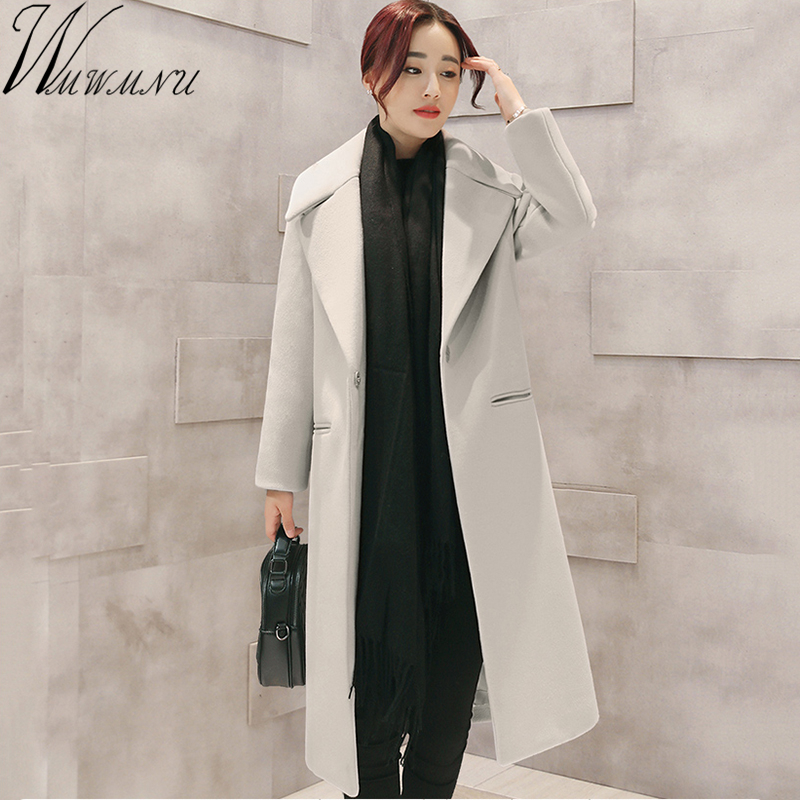 High Quality Wool Coats Women long Cashmer Slim Jackets Fashion Female Outwear gray/black/pink Coat Women woolen Jackets ls647