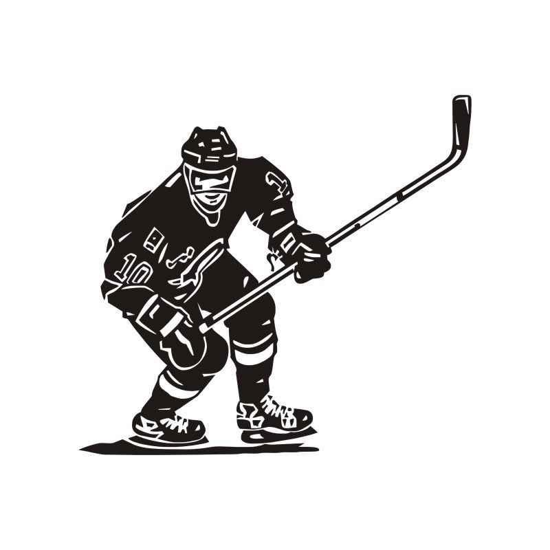 لاعب هوكي الجليد NHL الرياضة الصبي غرفة جدارية ديكور جدار الفن الفينيل صائق ملصقا