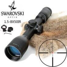 Имитация Swarovskl 1,5-8×50 IRZ3 прицелы F15 Red Dot Сетка охотничий оптический прицел сделано в Китае