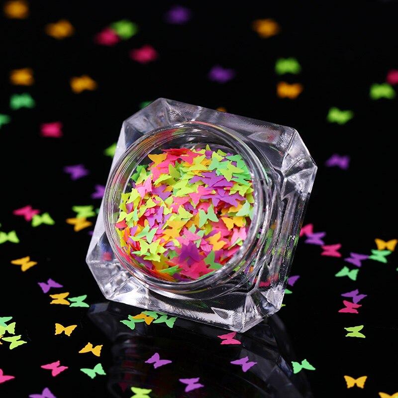 0,7g Fluoreszierende Nagel Pailletten Bunte Schmetterling Flakes Paillette Nagel Glitter Pailletten Nagel Fliakies Körper Kunst Decklack Verwenden Nails Art & Werkzeuge Nagelglitzer
