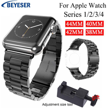 Classic Watch Band For Apple Watch Series 4 1 3 2 watchBand steel Strap For iWatch 42mm 38mm 40mm 44mm Stainless Metal watchbelt hoco 42mm watchband steel stainless metal strap classic buckle adapter watch bands for apple watch