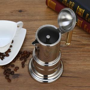 Image 3 - 200ml Stainless Steel Coffee Pot Moka Coffee Maker Teapot Mocha Stovetop Filter Percolator Cafetiere Percolator Tool