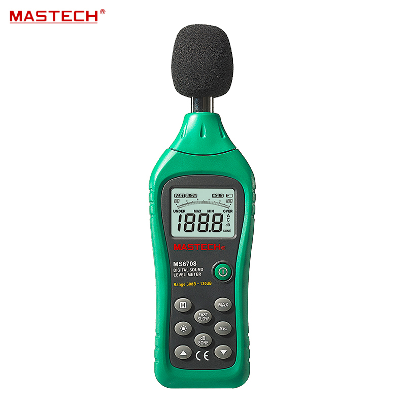 ФОТО MASTECH MS6708 Digital Sound Level Meter With The Backlight Digital Display