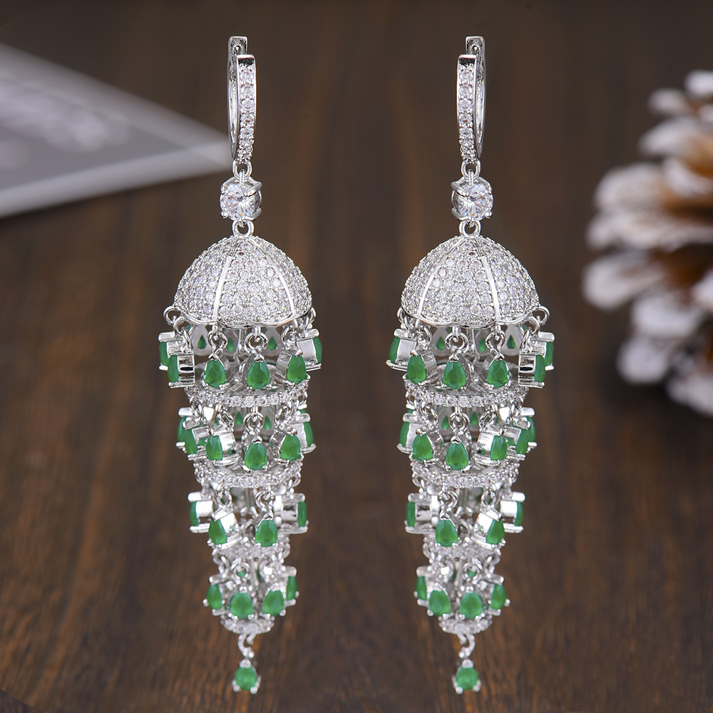 GODKI Luxury Trendy Long Tassel Rain Drop Dangle Earrings for 