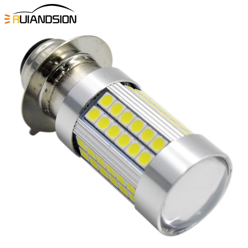 1pc Super bright H6M P15D LED Motorcycle Headlight High/Low Dual Beam 6W 1200LM 3030 66 smd Motorbike Head Fog Lamp Bulb 6V 12V image
