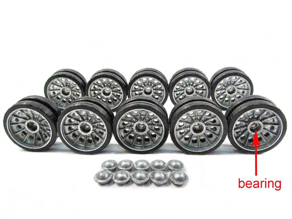 цены Mato 1:16 1/16 metal road wheels set with bearing for Henglong T34-85 3909-1 rc tank