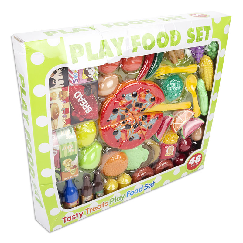48pcs Kitchen Fun Plastic Food Toy Simulation Cutting Pizza Fruit Pretend Toys Diversity Sets For Kids In From Hobbies On