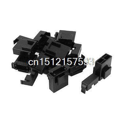 Auto Car Truck Blade Fuse Terminal Block Box Holder Black BX2017 10 Pcs blade style fuse holder for nissan mazda odyssey racing car black dc 12v