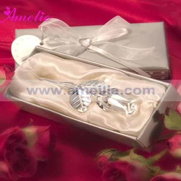 10piece lot crystal rose wedding favor custom wedding give aways